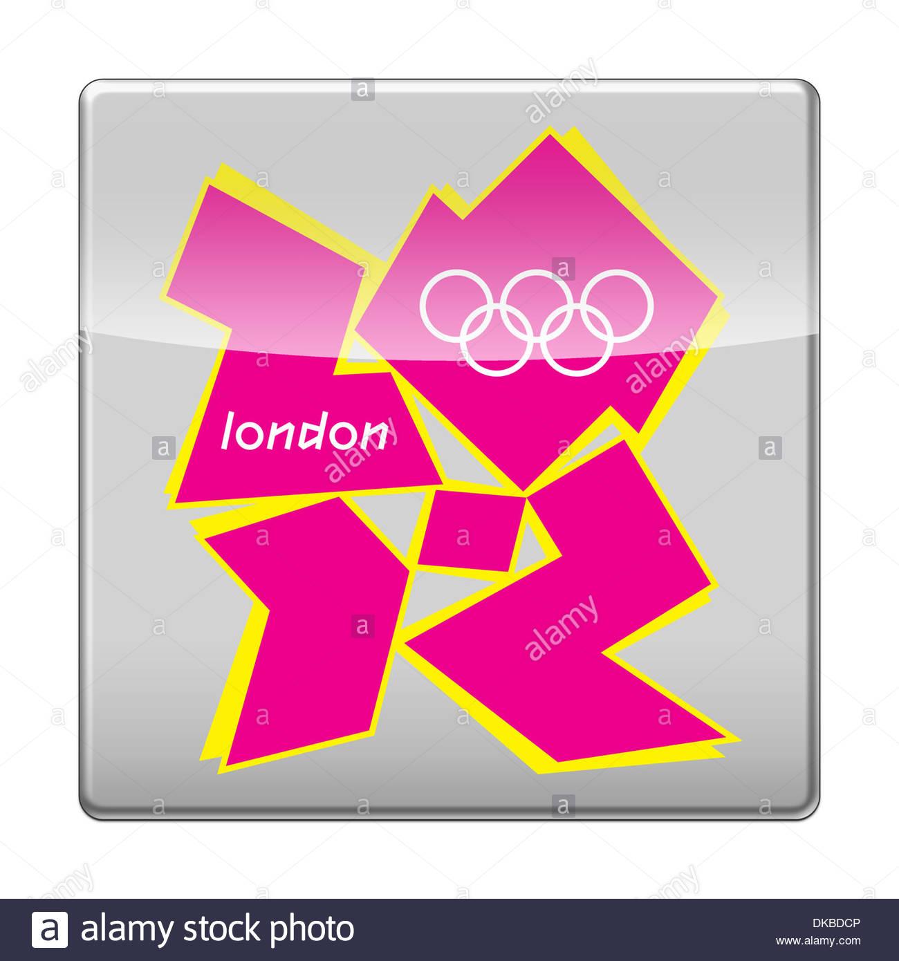 2012 Juegos Olimpicos De Verano En Londres App Icono Distintivo Logo