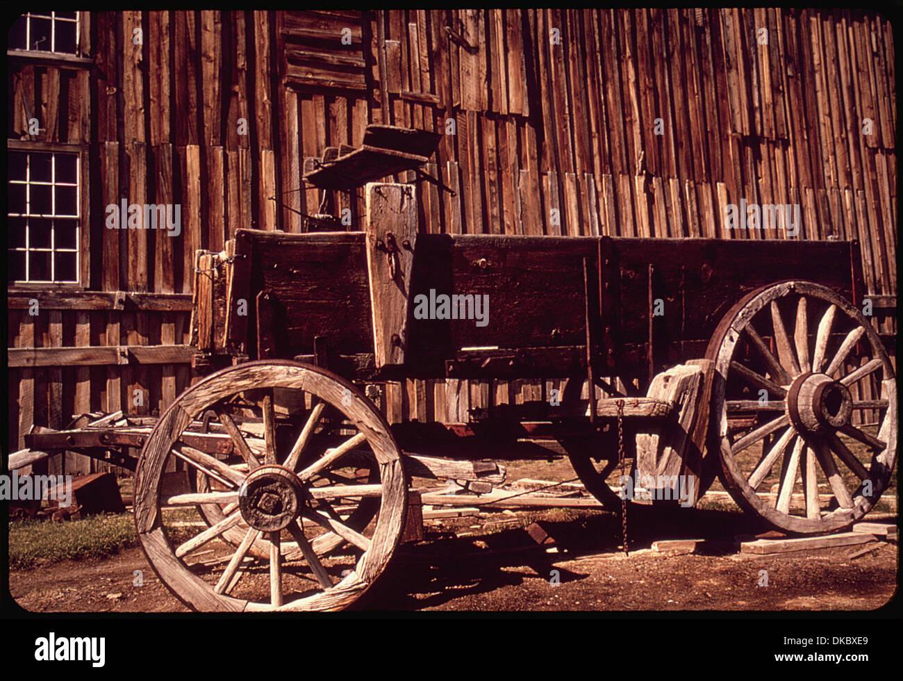 Un vagón de madera restaurados en BODIE Parque Histórico Estatal BODÍ ES UNO DE LOS MÁS bien conservados pueblos fantasma en los EE.UU. 543118 Imagen De Stock