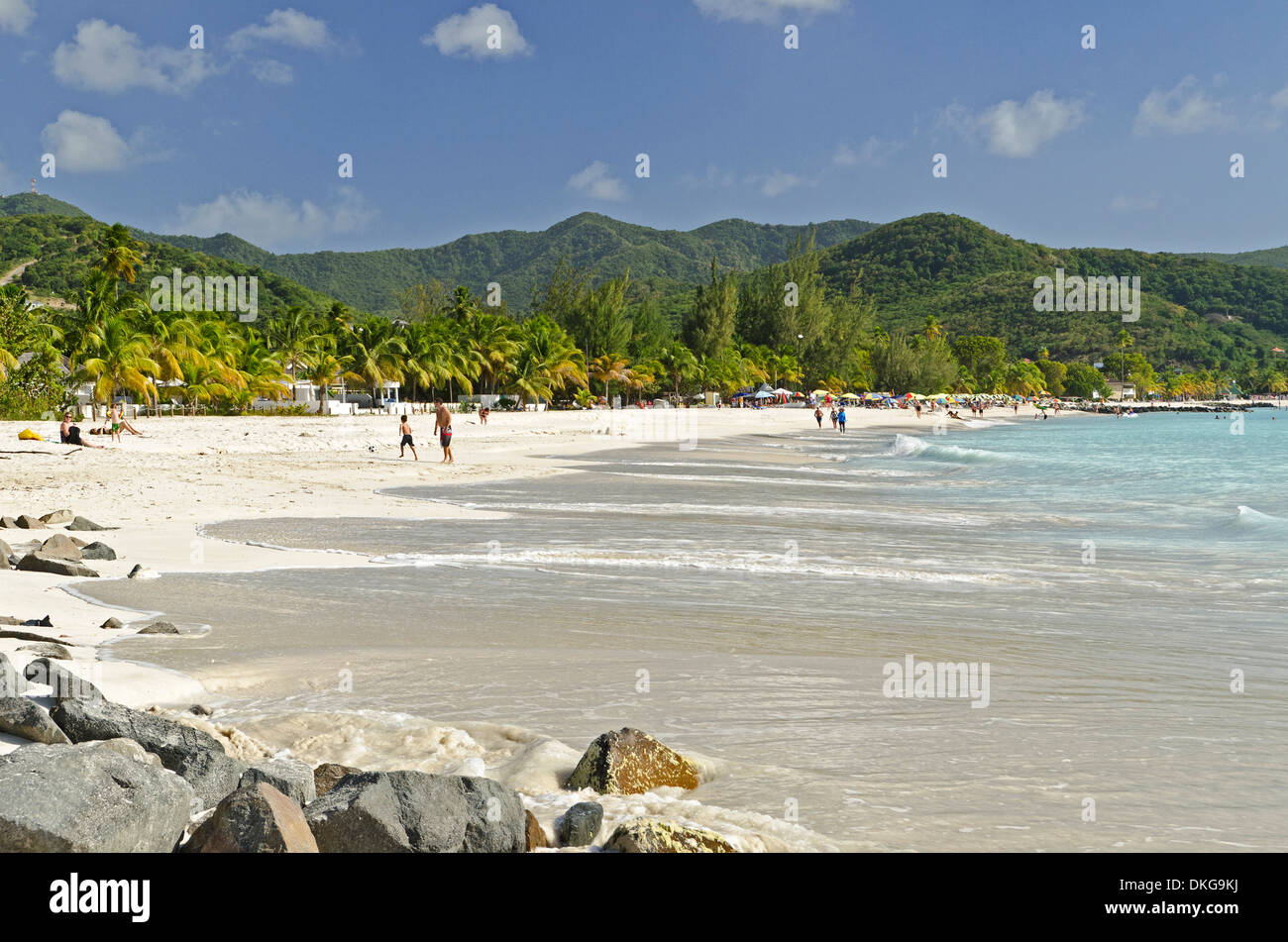 Jolly Beach, Antigua y Barbuda, Antillas, el Caribe, América Imagen De Stock