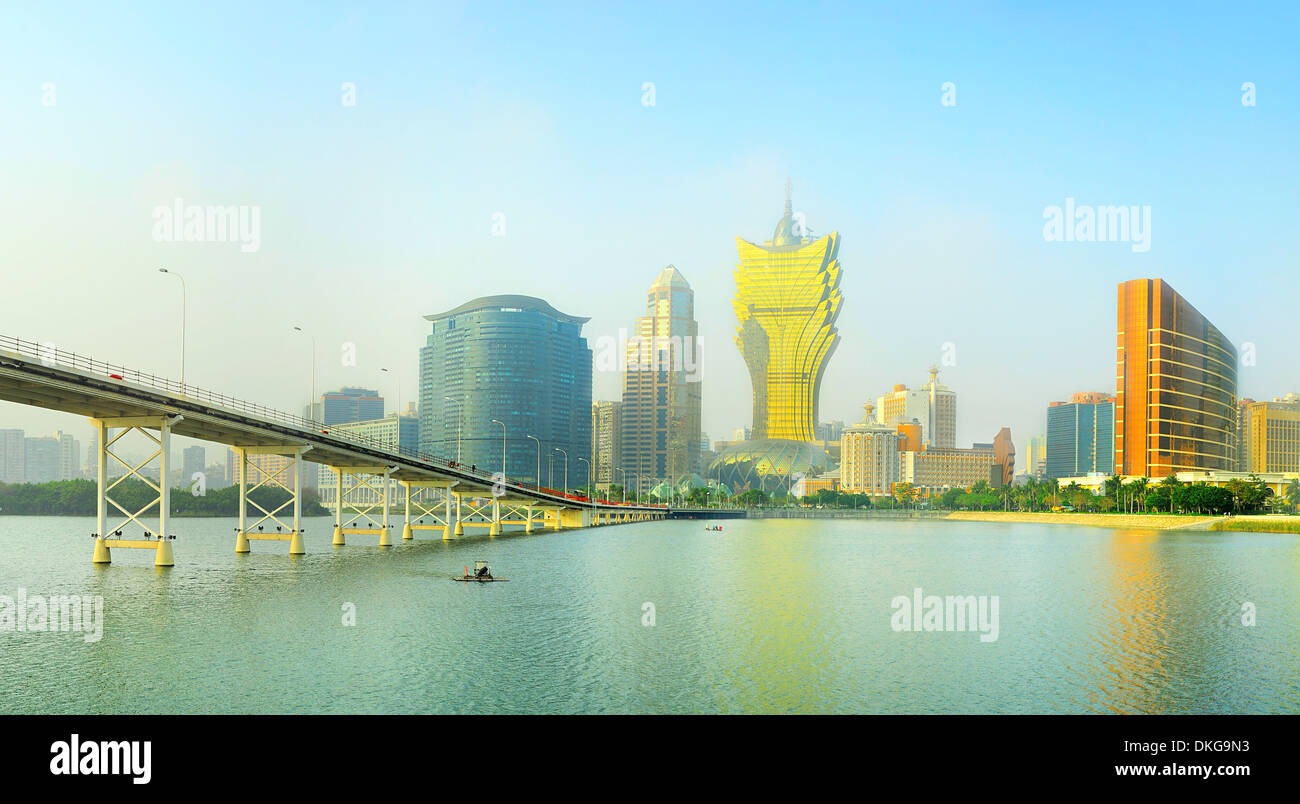 Vista panorámica de Macao downtown Imagen De Stock