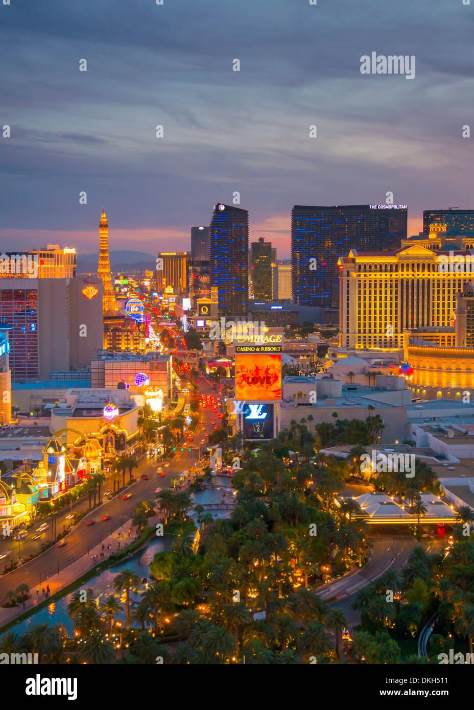 La Strip, en Las Vegas, Nevada, Estados Unidos de América, América del Norte Imagen De Stock