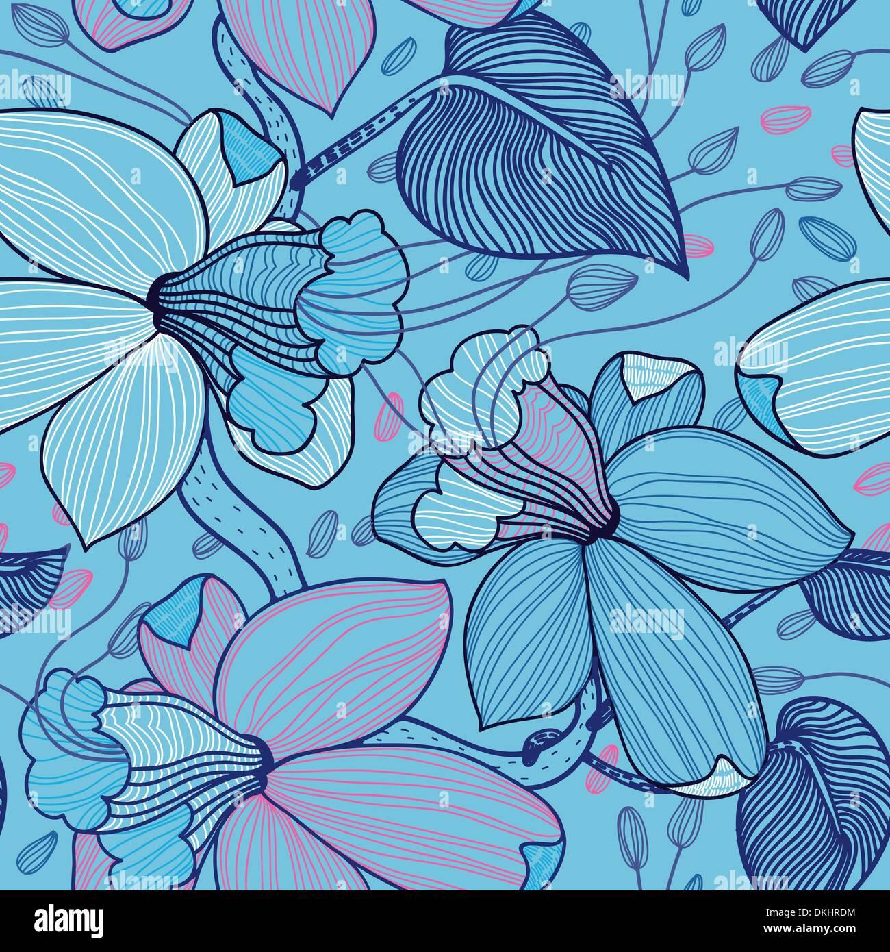 Vector floral patrón perfecta Imagen De Stock