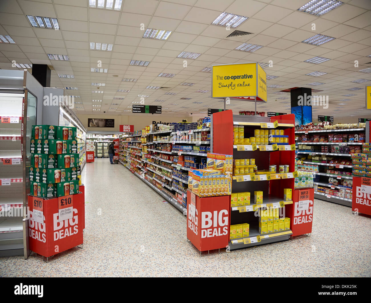Supermercado cooperativo Foto de stock