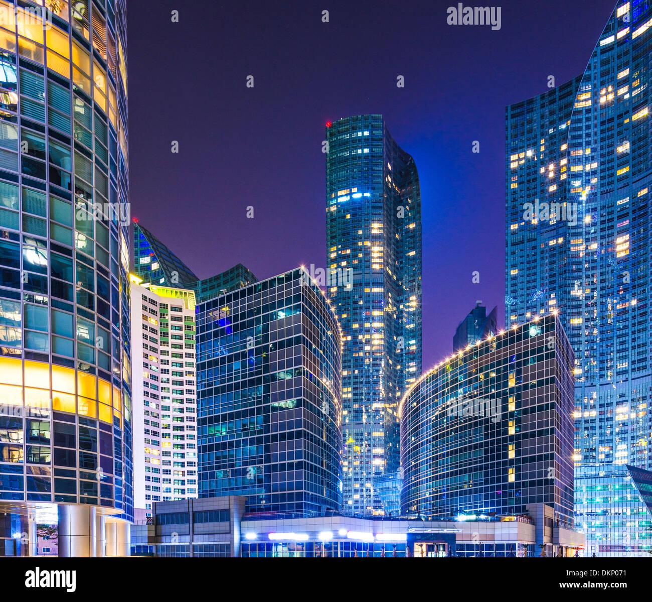Busan, Corea del Sur del paisaje urbano en el distrito de Haeundae. Imagen De Stock