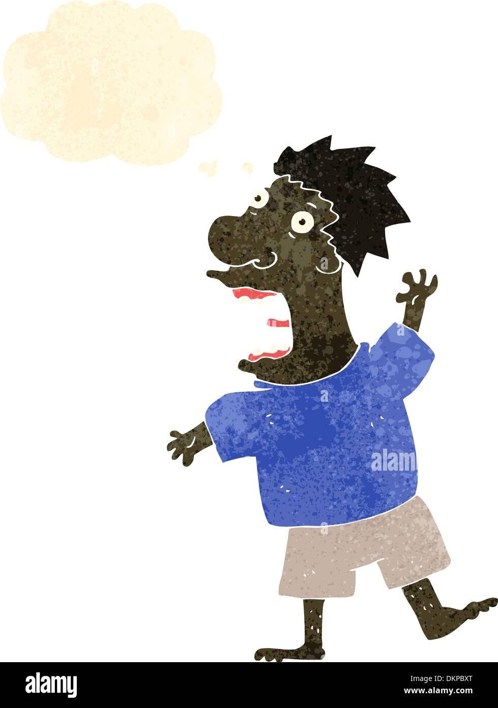 Cartoon retro con textura. Aislado en blanco. Imagen De Stock
