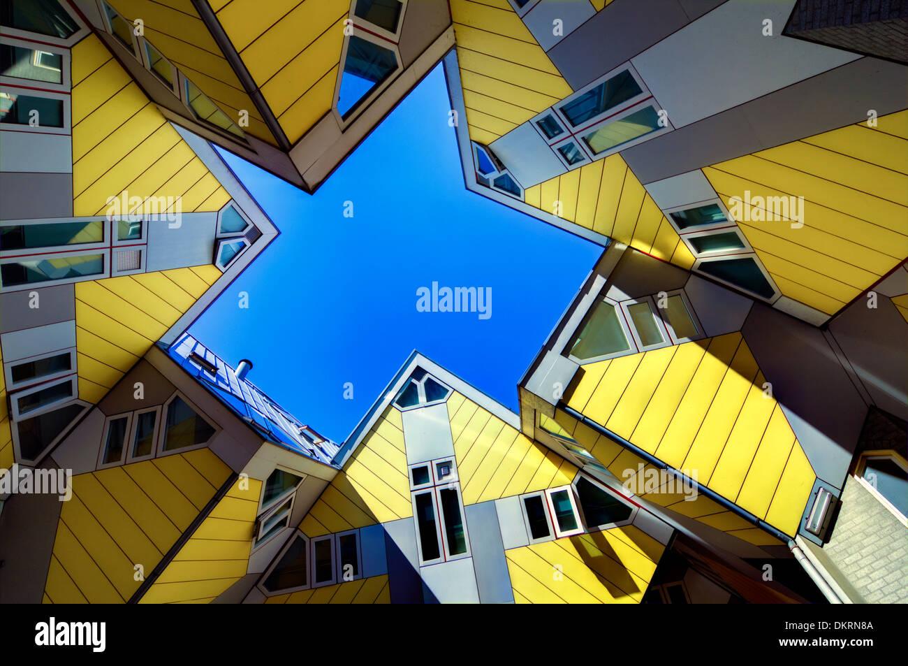 Casa de cubo por el arquitecto Piet Blom, Rotterdam, Países Bajos Imagen De Stock