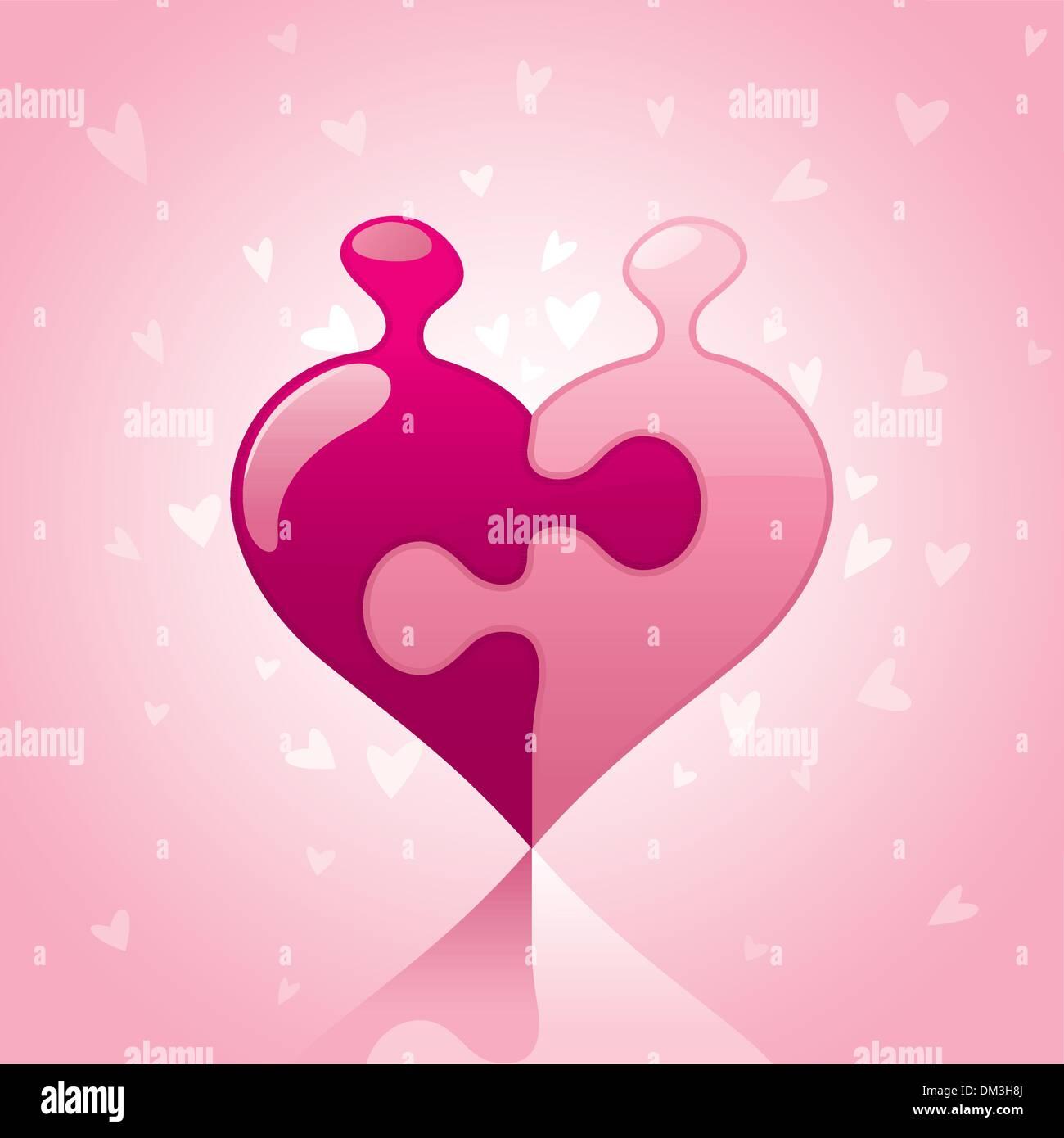 Puzzle de amor Imagen De Stock