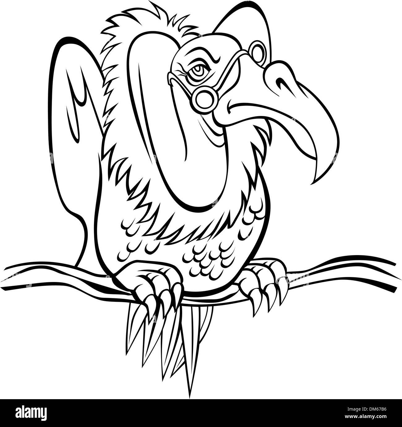Zopilote Viejo Ilustración Del Vector Imagen 64061738 Alamy
