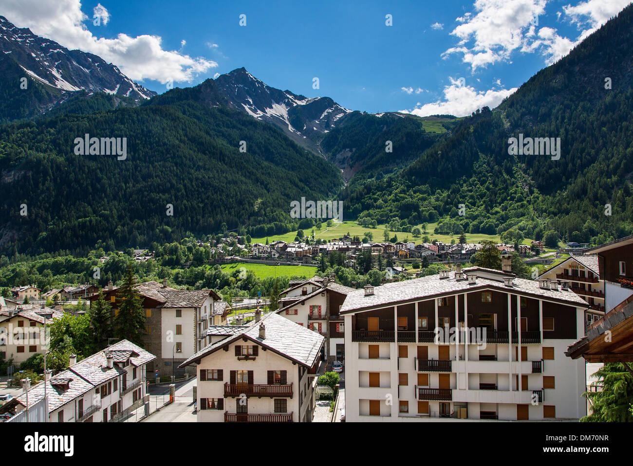 Italia, Valle d'Aosta, Courmayeur Foto de stock