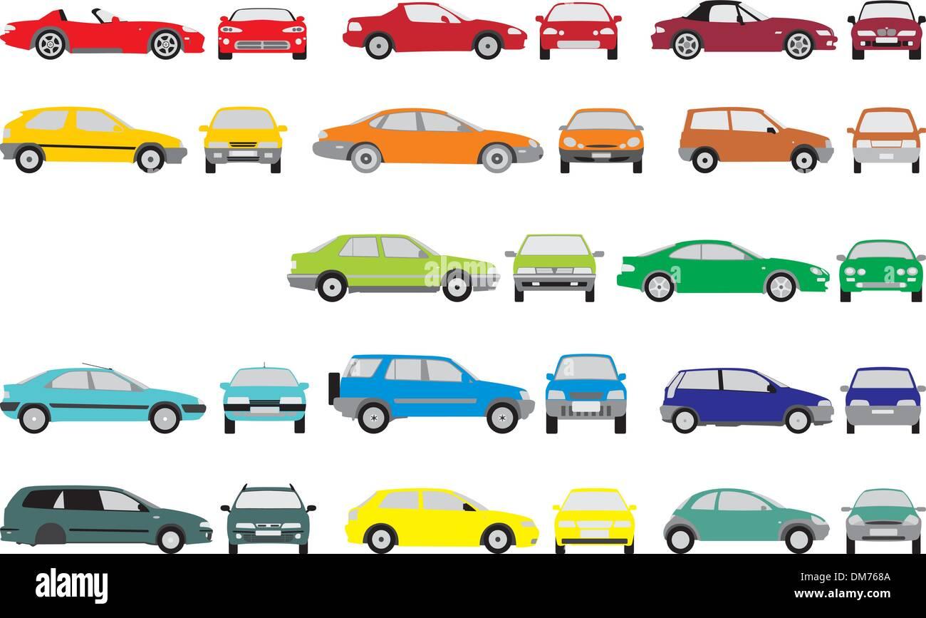 Coches de color Imagen De Stock