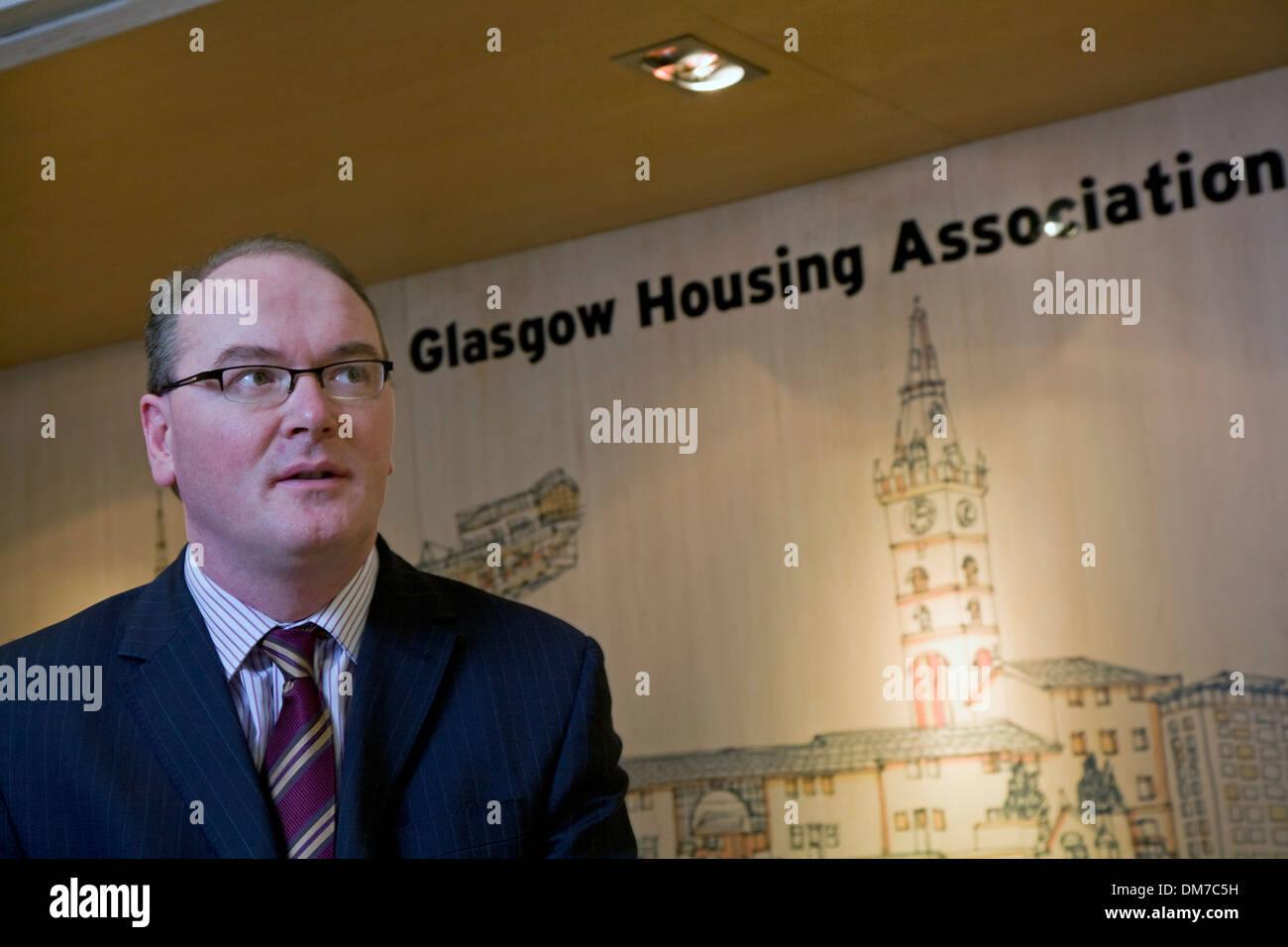 Martin Armstrong. Ex Director ejecutivo de la Asociación de Vivienda de Glasgow ahora jefe ejecutivo de Wheatley Grupo. Imagen De Stock