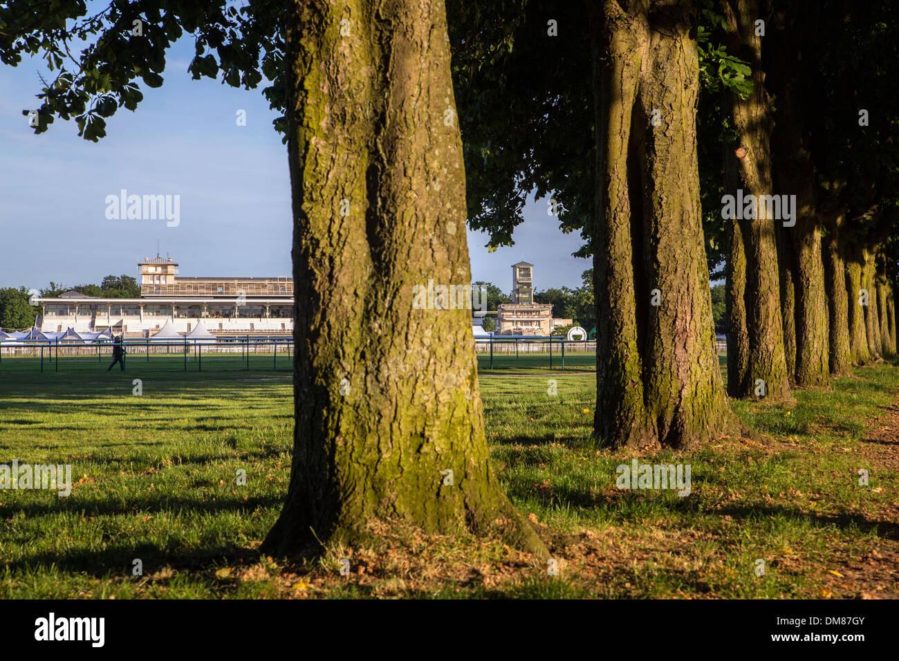 Parque del hipódromo de Chantilly, OISE (60), Francia Imagen De Stock