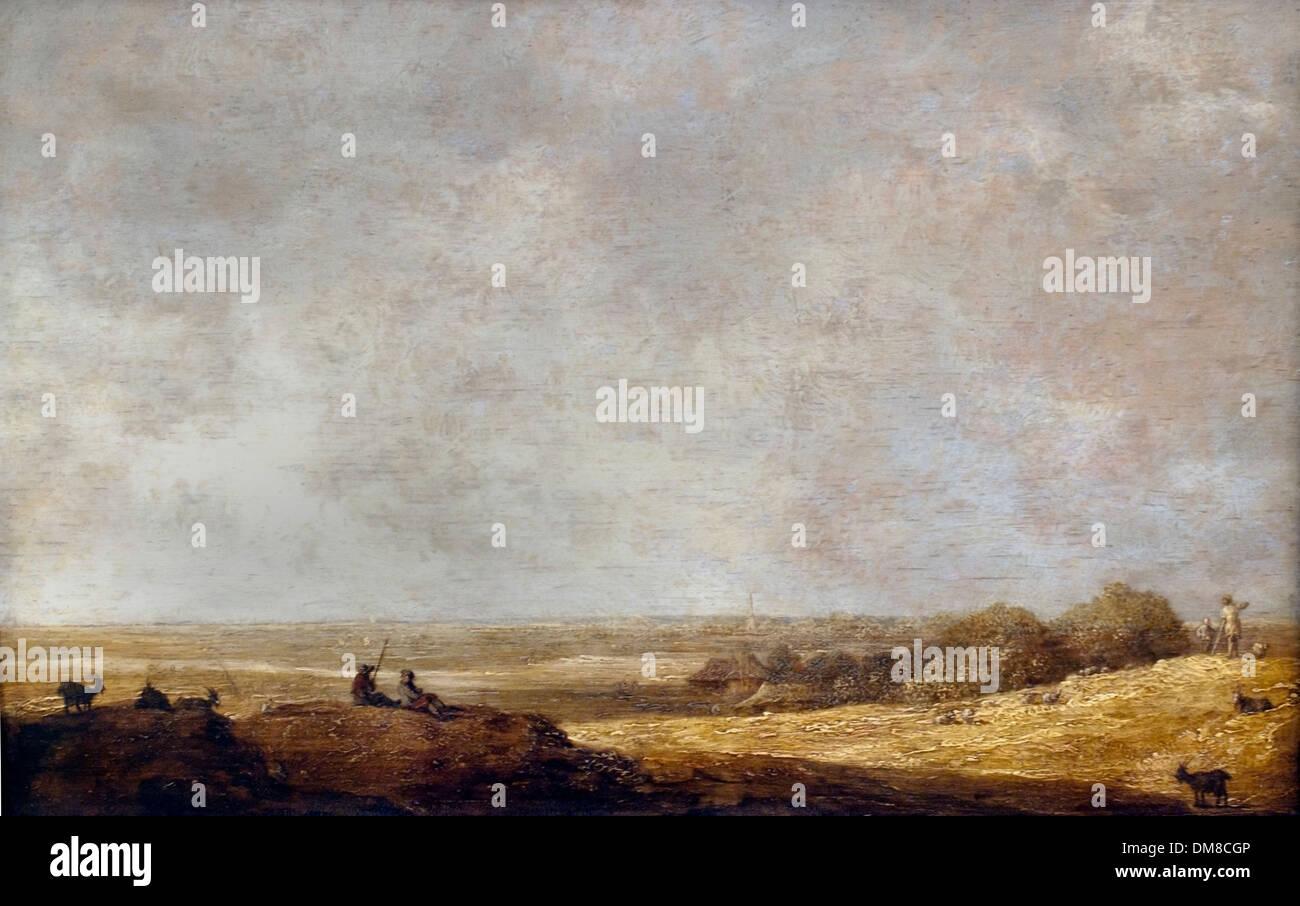 Paisaje llano por Aelbert Cuyp 1620 - 1691 Holanda Holandesa Imagen De Stock