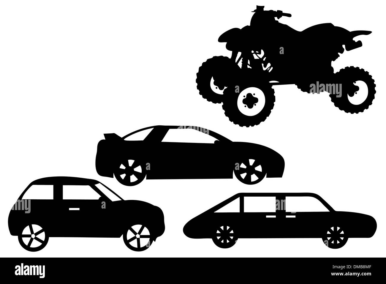 Collage con diferentes automóviles Imagen De Stock
