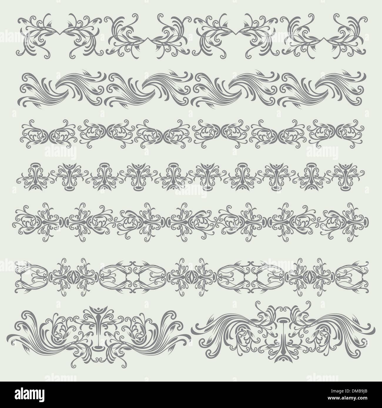 Conjunto de elementos de diseño vintage Imagen De Stock