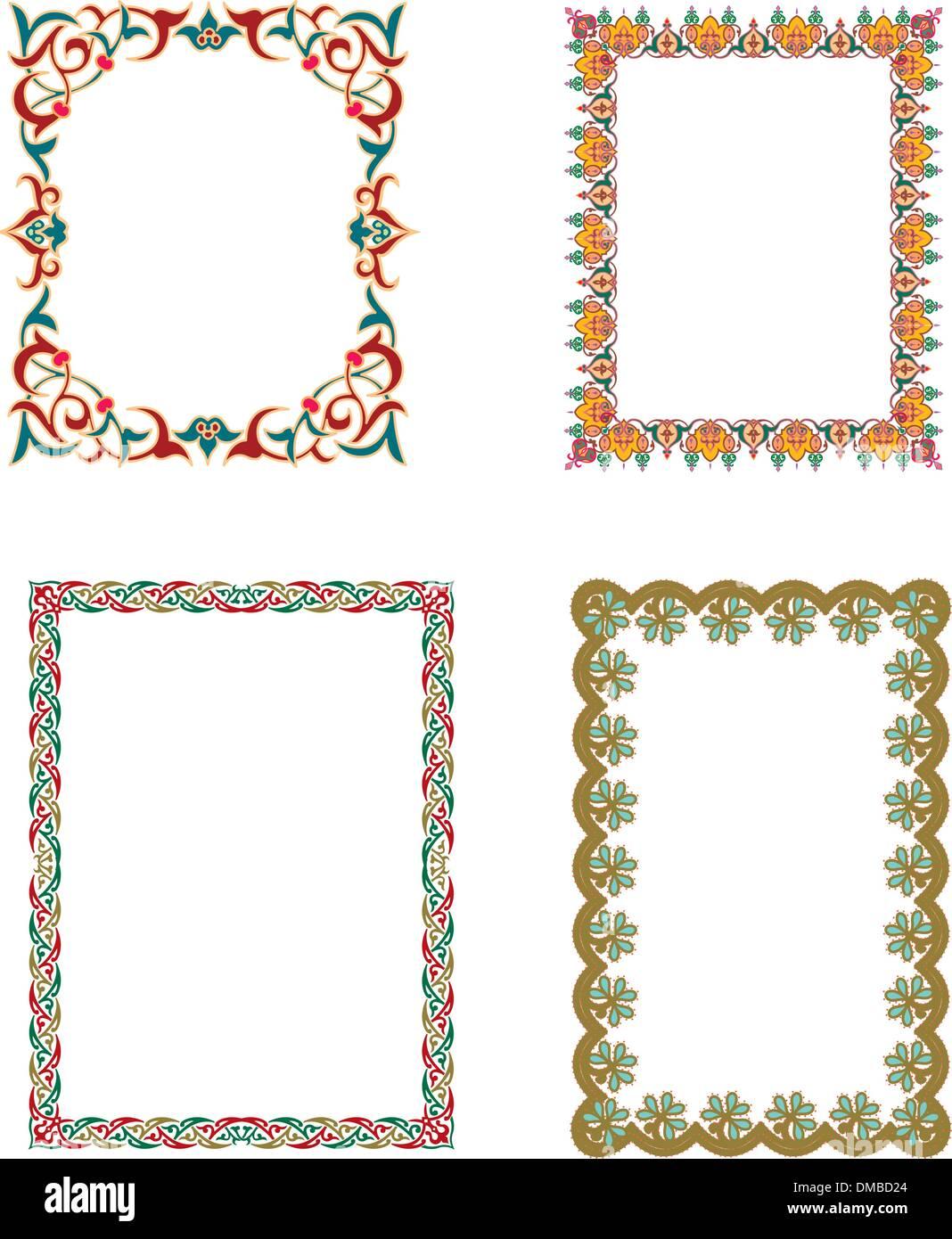 Marcos islámicos Ilustración del Vector, Imagen: 64175948 - Alamy