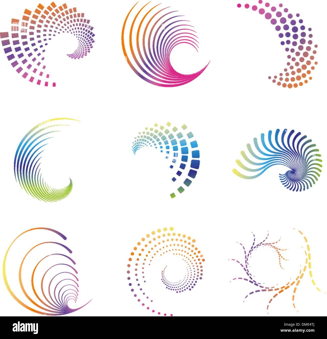Diseño de iconos de onda Imagen De Stock