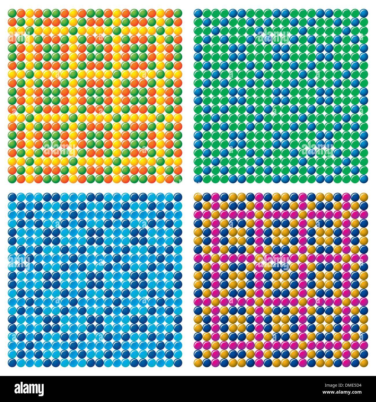 4 perfecta Candy antecedentes vectoriales Imagen De Stock