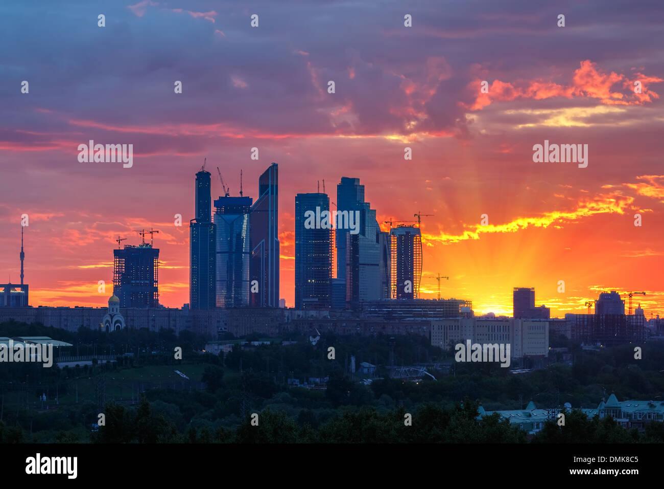 Ciudad de Moscú Imagen De Stock
