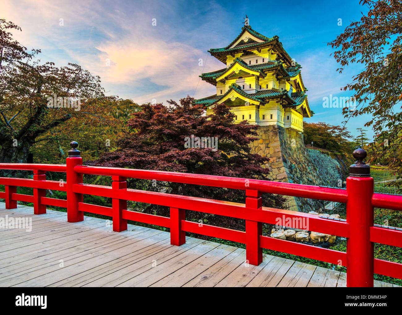 Castillo de Hirosaki en Aomori, Japón. Foto de stock