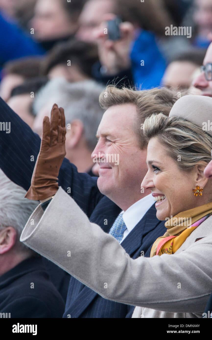 Países Bajos, Scheveningen. Celebraciones en la playa Scheveningen. Willem-Alexander rey y reina Maxima asistiendo al evento Imagen De Stock