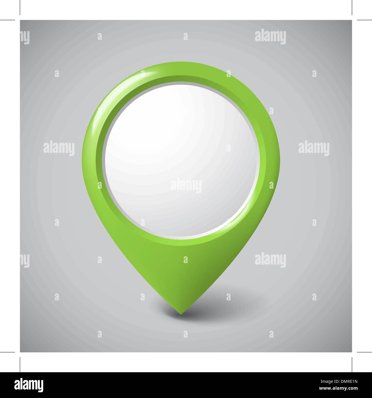 Ronda el puntero 3D con lugar para tu contenido Imagen De Stock