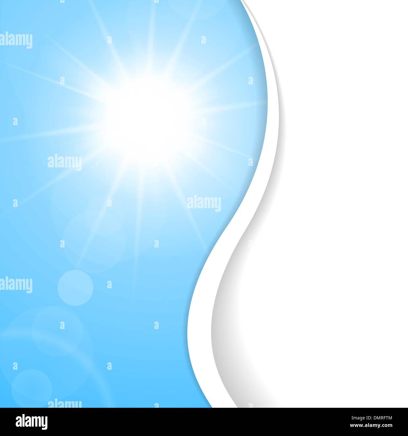 Verano Azul de fondo con lugar para tu contenido Imagen De Stock