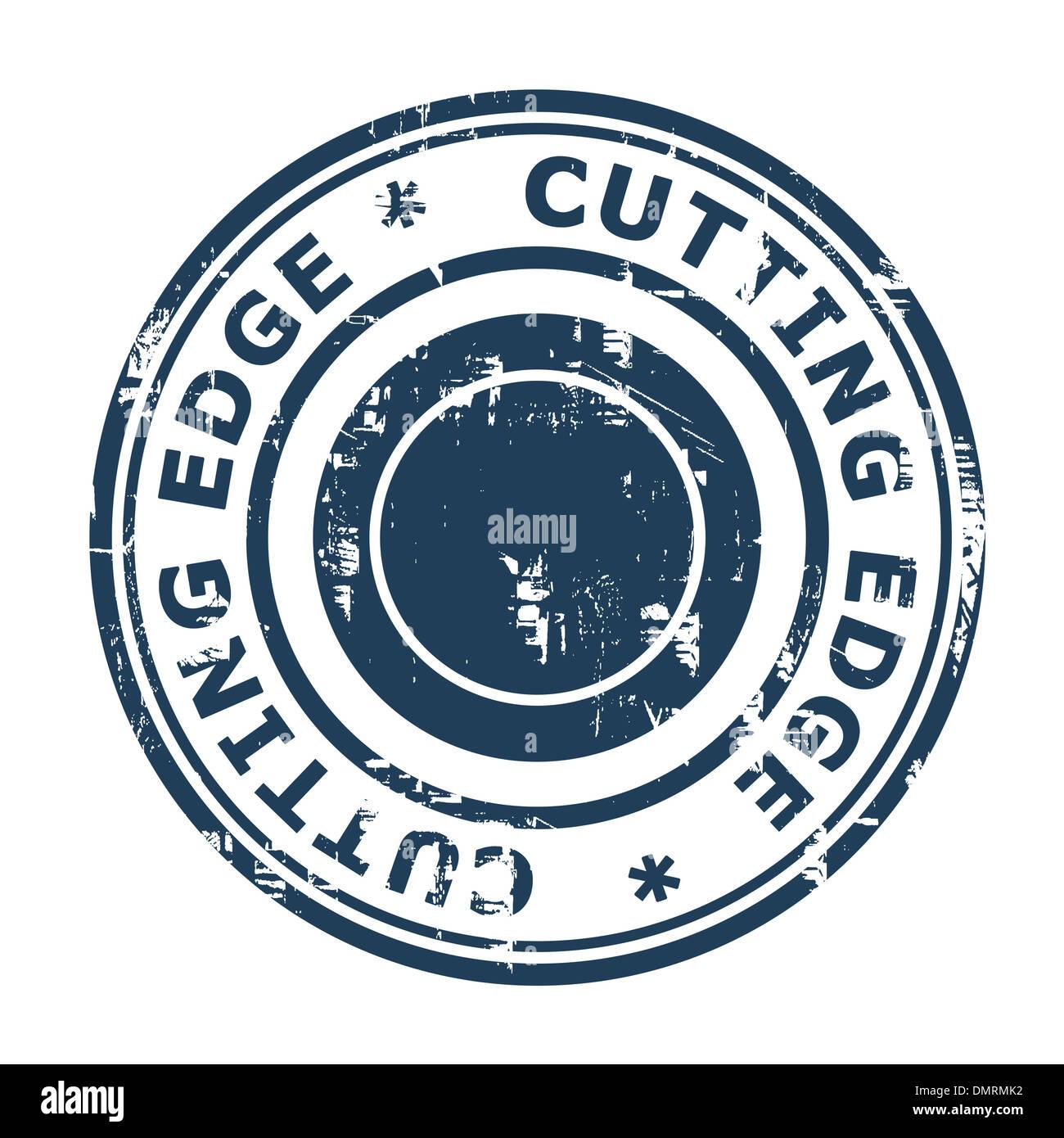 Concepto vanguardista sello aislado sobre un fondo blanco. Imagen De Stock