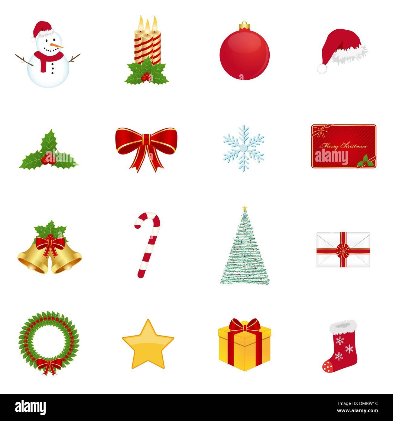 Christmas Icons Imágenes De Stock & Christmas Icons Fotos De Stock ...
