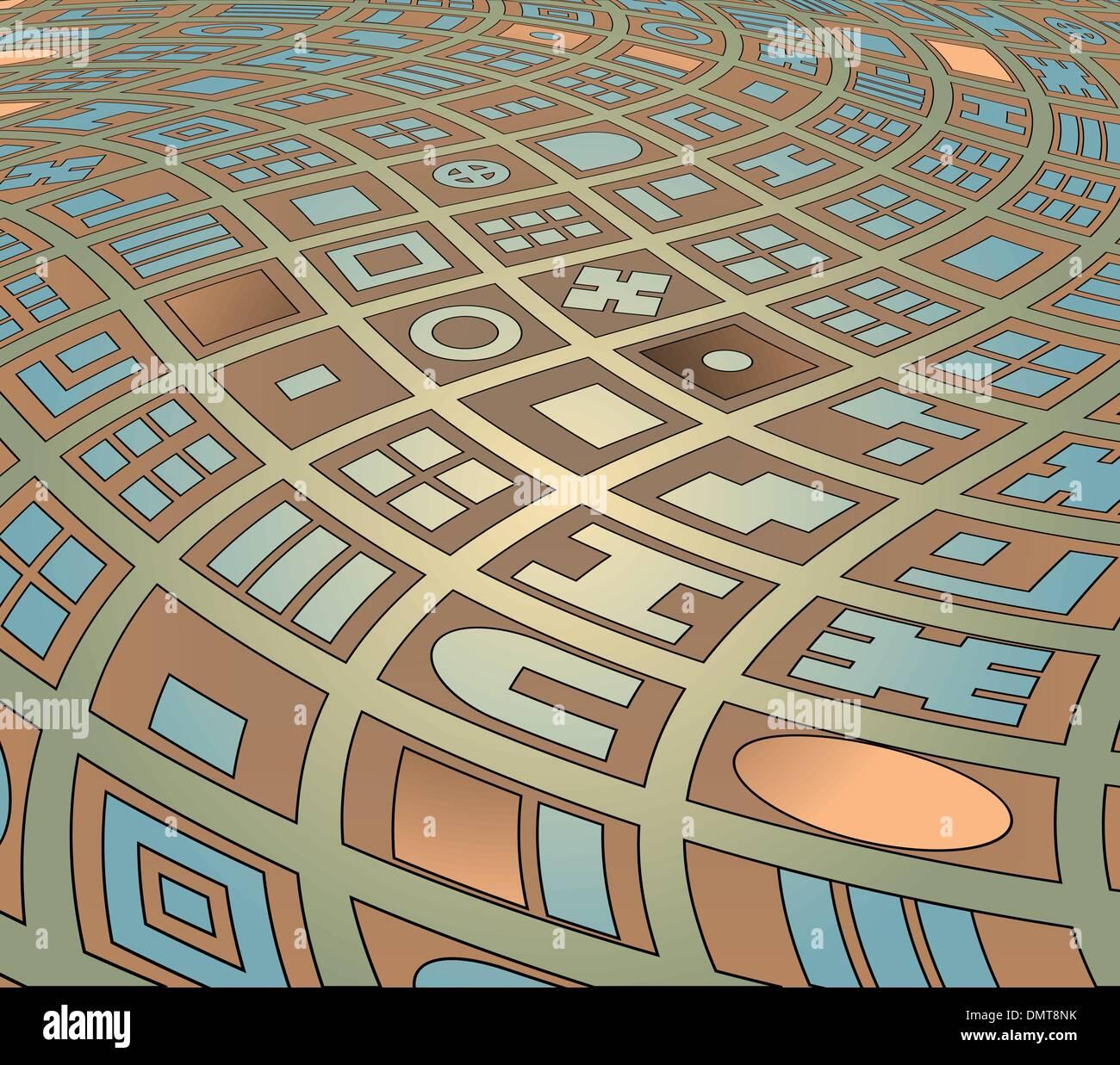 Calles retorcidas Ilustración del Vector