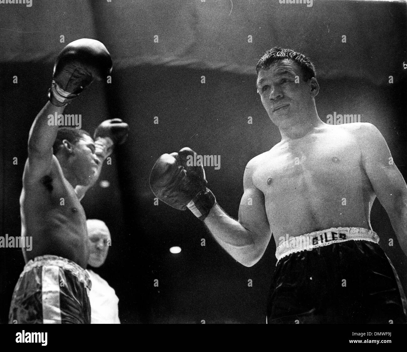 Junio 5, 1962 - Londres, Inglaterra, Reino Unido - DAVE CHARNLEY era un boxeador ligero en inglés. Conocido como Foto de stock