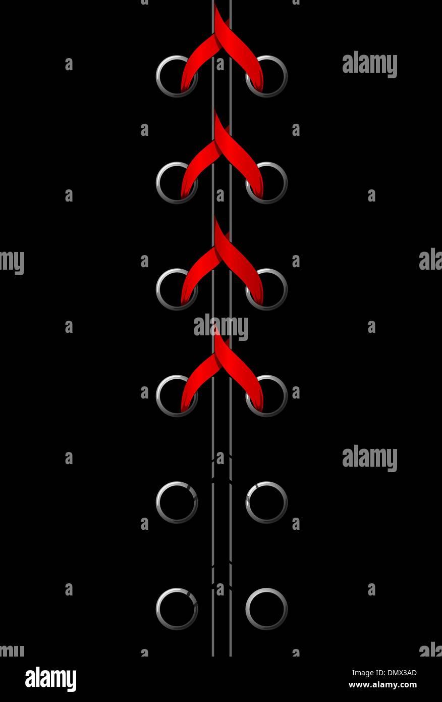 Ilustración vectorial de encaje rojo Imagen De Stock