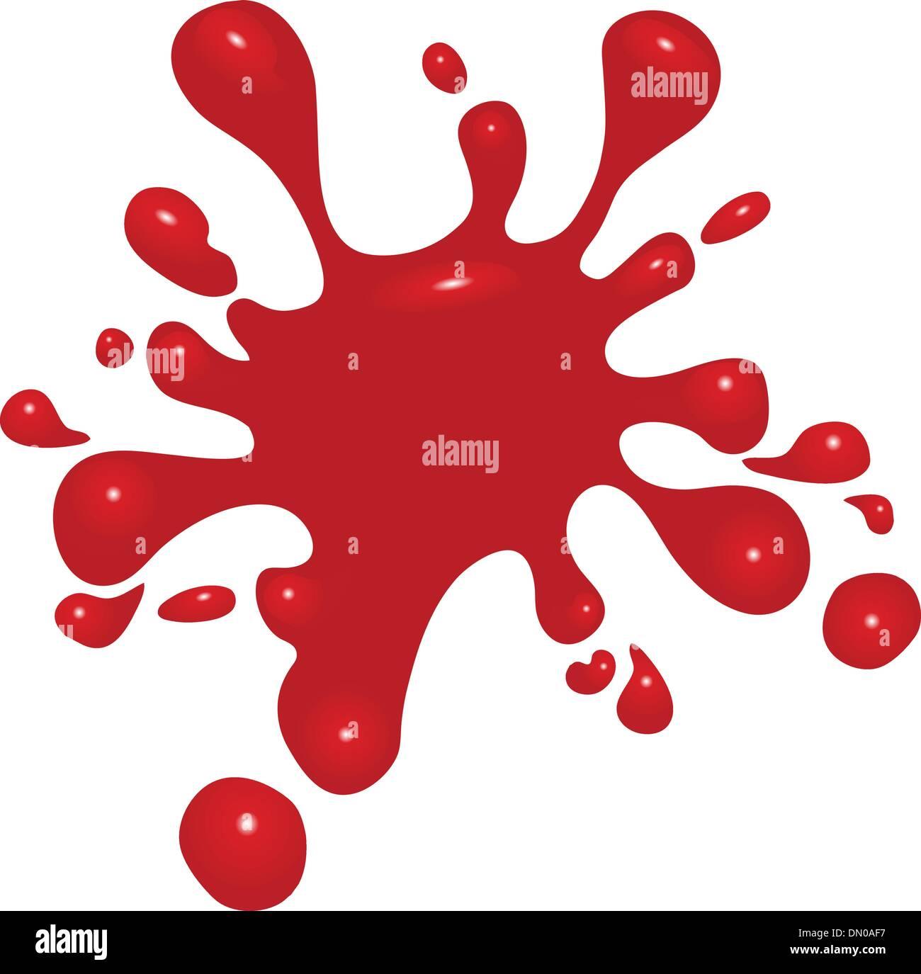 Salpicaduras de sangre Imagen De Stock