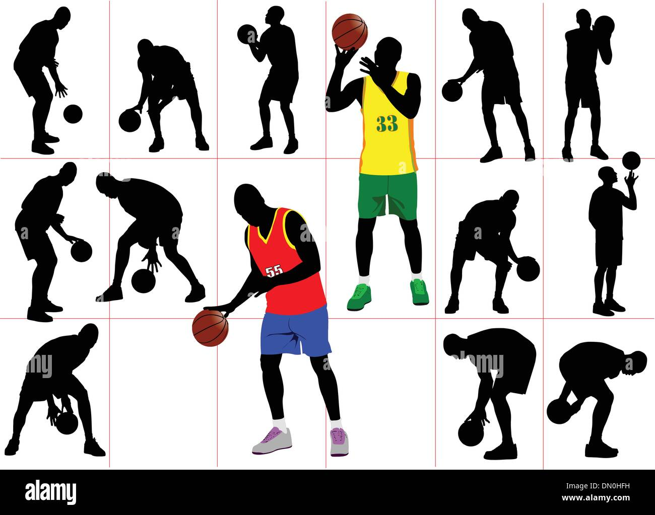 Póster de baloncesto. Ilustración vectorial Imagen De Stock