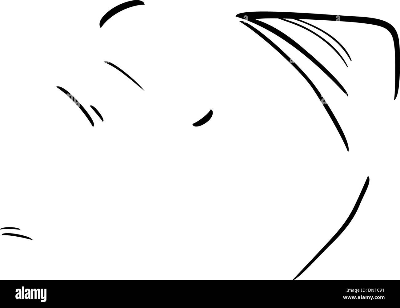 Elefante Para Colorear La Ilustración De Dibujos Animados