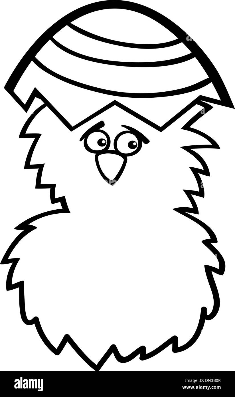 Pollo En Huevo De Pascua Para Colorear Dibujos Animados