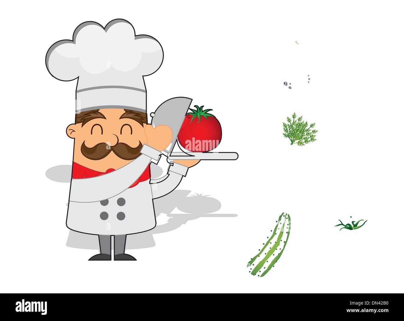 Chef De Dibujos Animados Ilustración Del Vector, Imagen