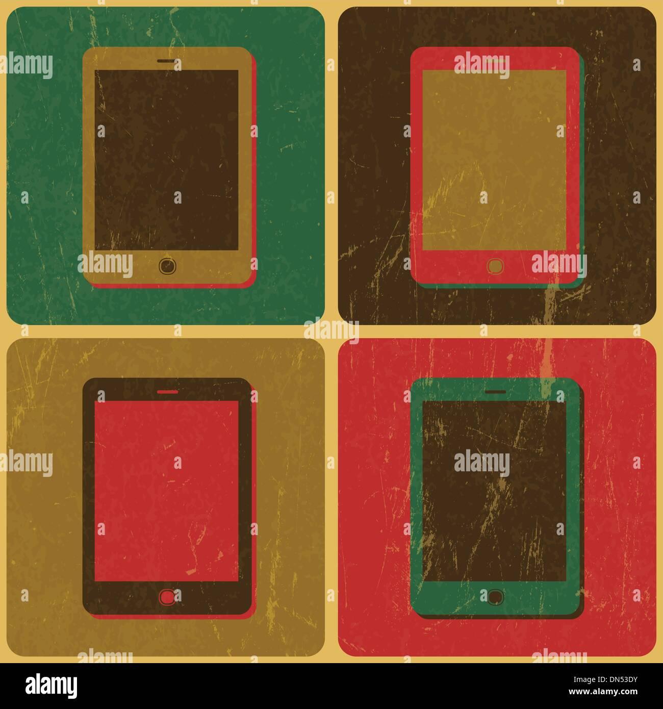 Póster de teléfono inteligente, estilo Pop-Art, Vector Imagen De Stock