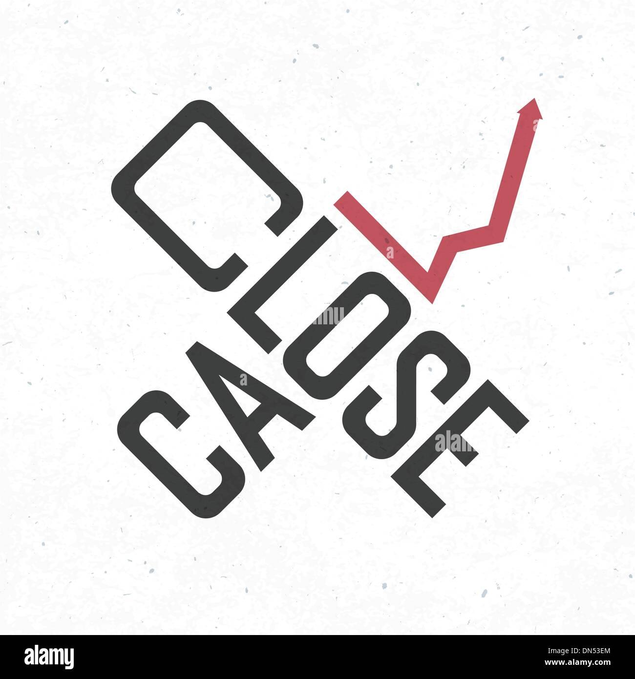 Frase de cierre de llamada. Concepto de negocio arriesgado, vector EPS10 Ilustración del Vector