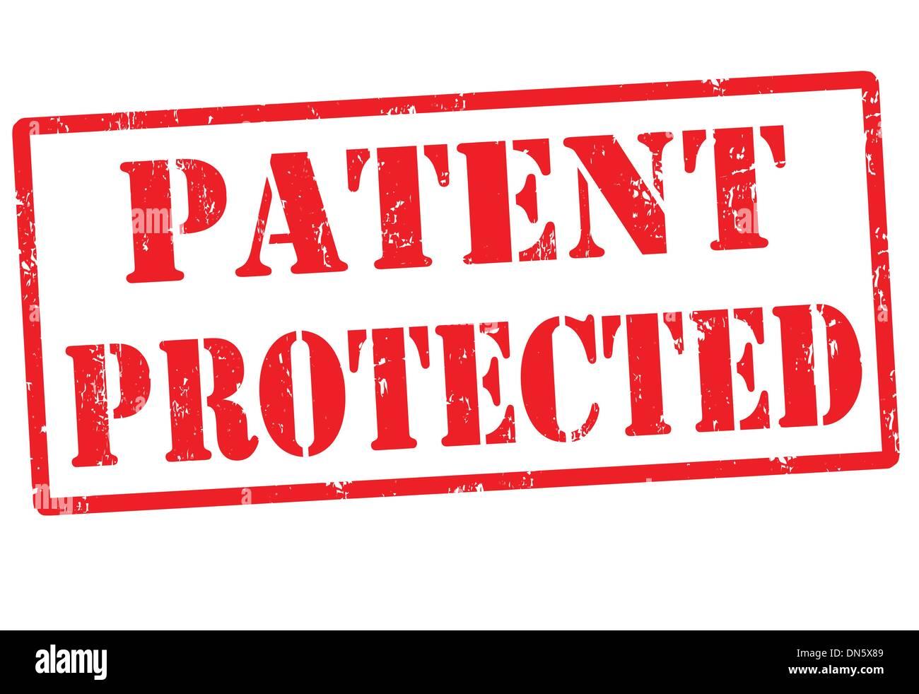 Protegido por patente sello Ilustración del Vector