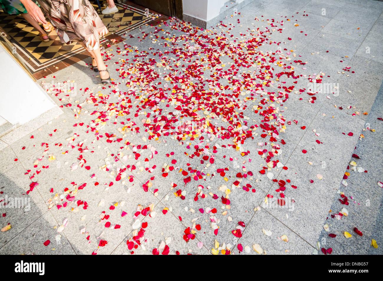 Church Wedding Confetti Imágenes De Stock & Church Wedding Confetti ...