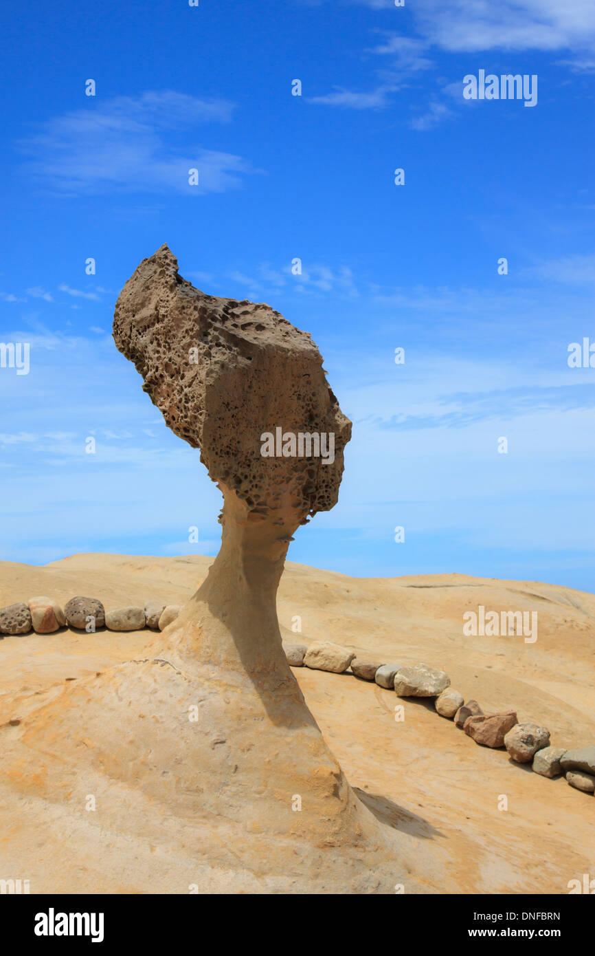 Yeliu geopark, Taiwán Imagen De Stock
