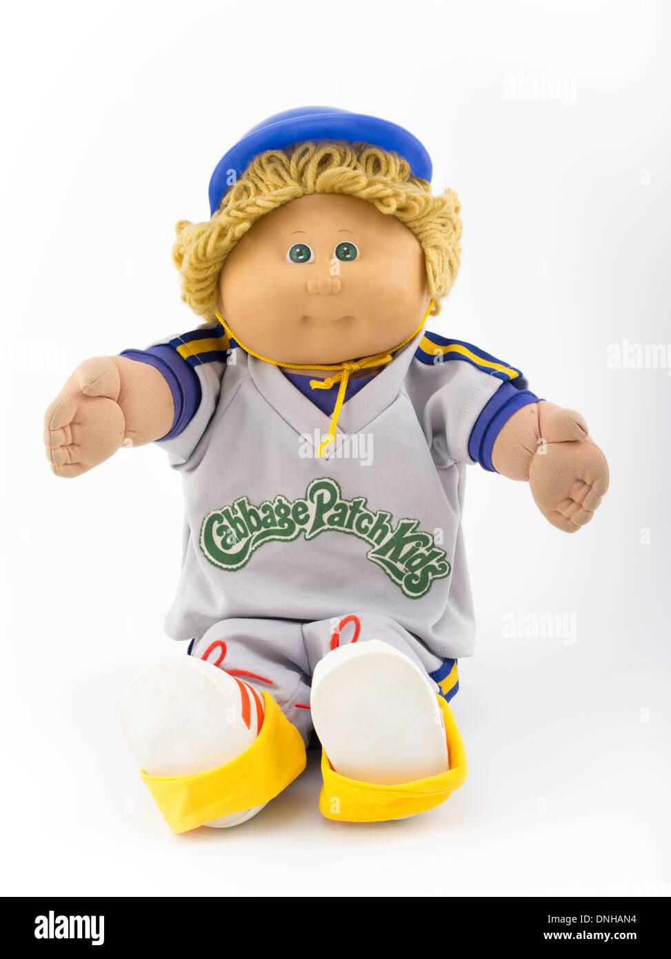Las Cabbage Patch Kids Arlo Scotty creado por Xavier Roberts 1982 Coleco icónicos de juguete de los 80's, 80s Imagen De Stock