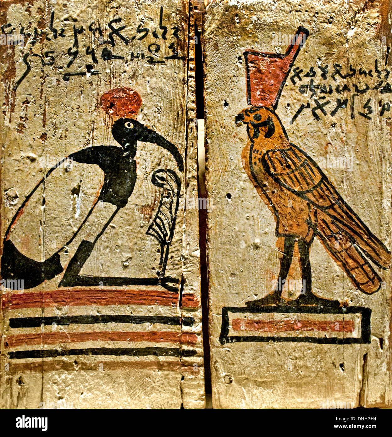 Las puertas de un santuario sagrado teniendo una bendición en demótica script 100-200 AD Egipto Egipto romano Imagen De Stock