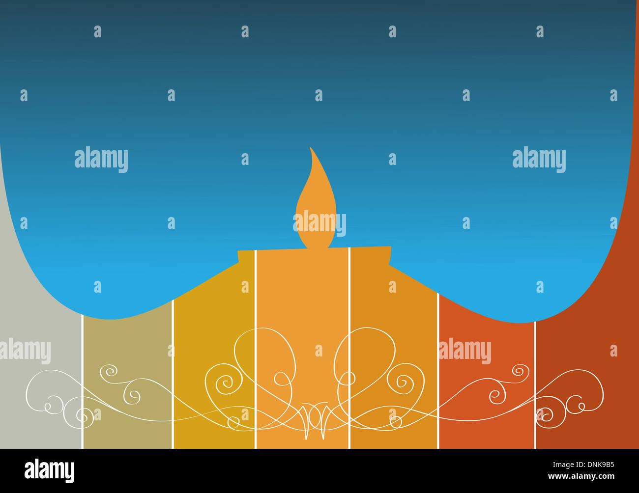 Diwali lámpara de aceite aislado sobre fondo de color Foto de stock