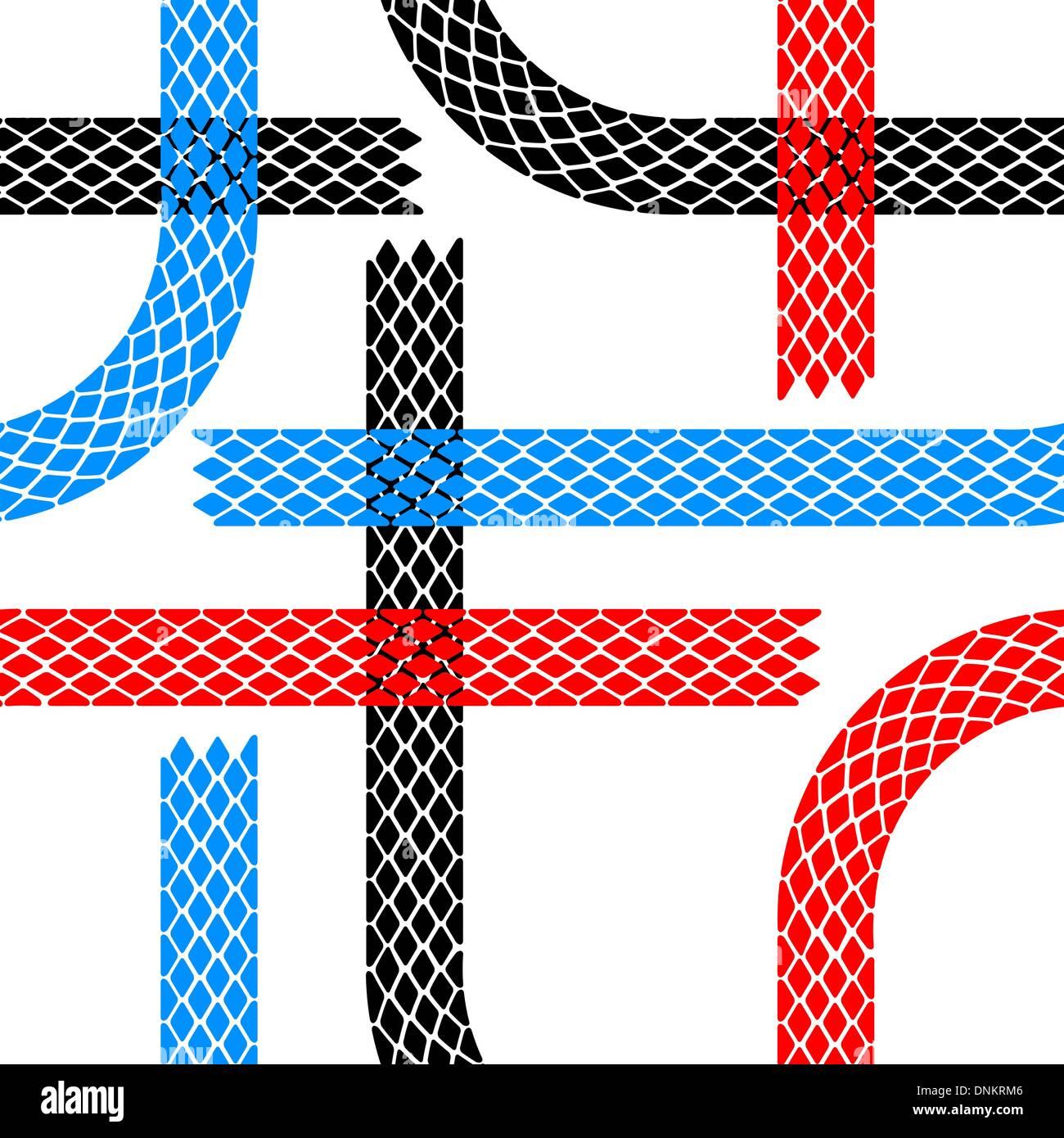 Las huellas de los neumáticos wallpaper perfecta ilustración de fondo vector patrón Imagen De Stock