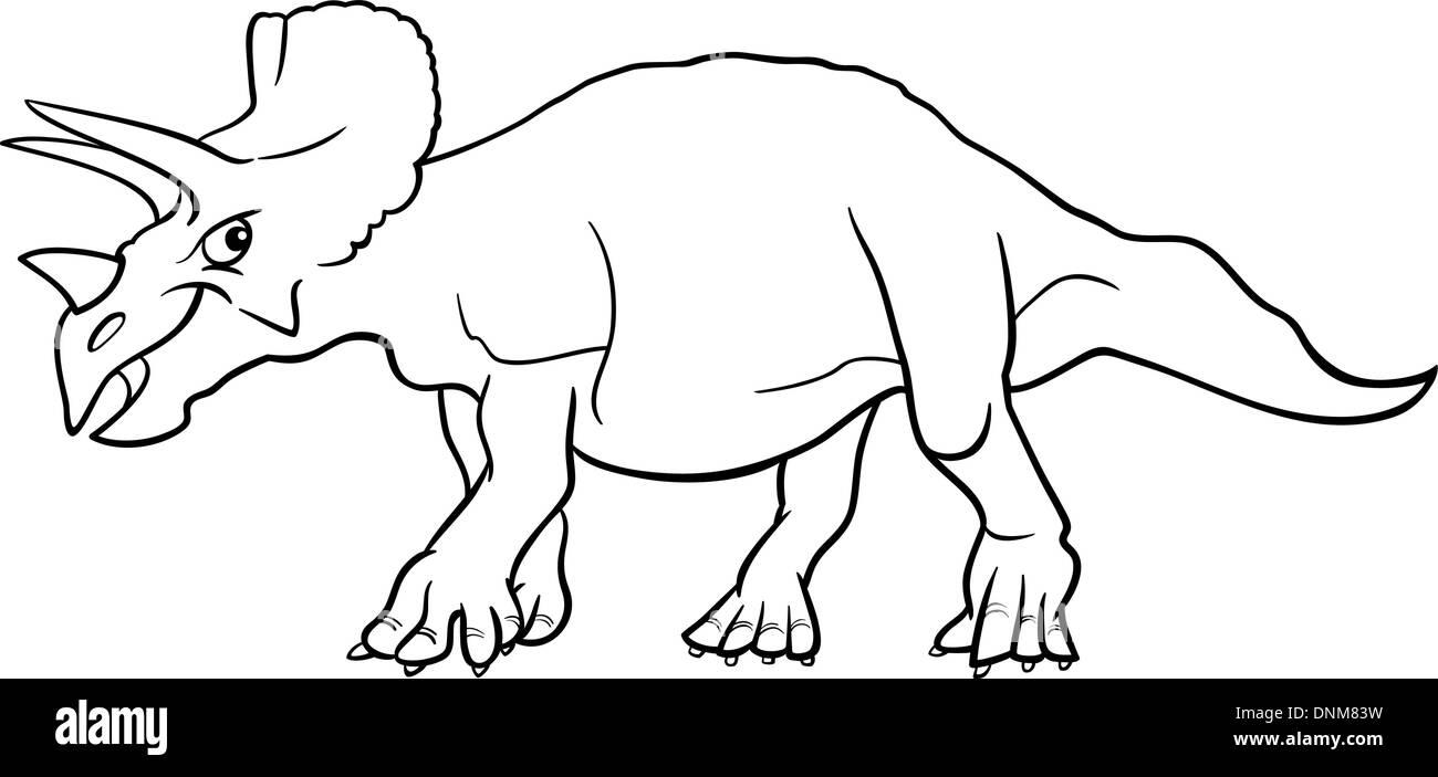 Dinosaur Triceratops Vector Illustration Imágenes De Stock ...