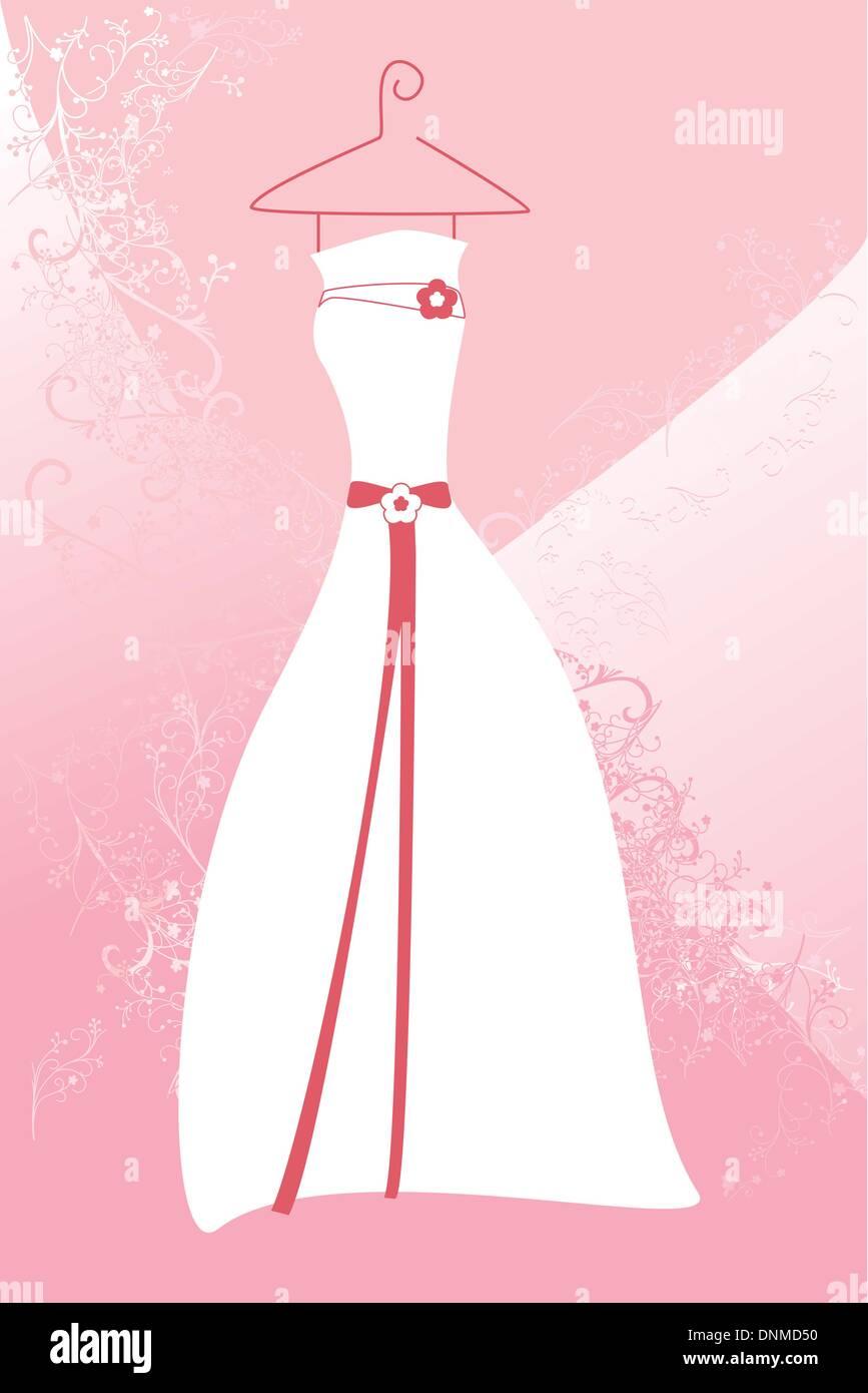 Una ilustración vectorial de un vestido de novia Ilustración del ...