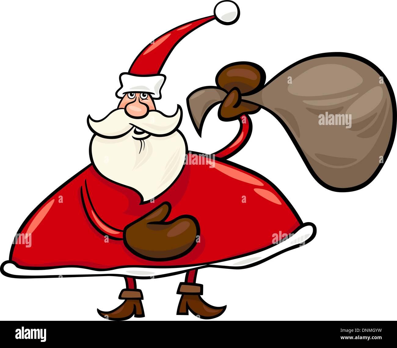 Imagenes De Papa Noel Animado.Ilustracion De Dibujos Animados De Santa Claus O Papa Noel