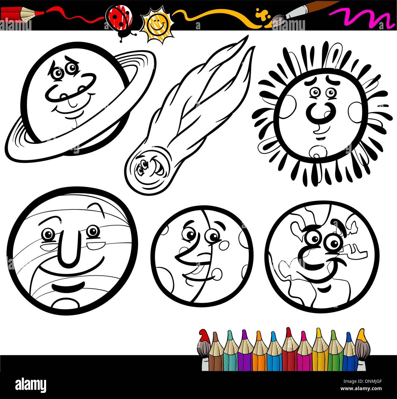 Cartoon Illustration Funny Jupiter Planet Imágenes De Stock ...